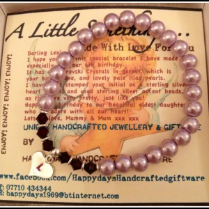childs stretch beaded bracelet