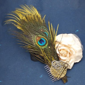Steam punk inspired hair comb