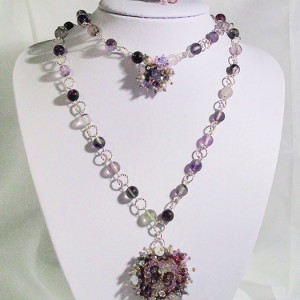 Semi precious stones and Swarovski Jewellery Set By Jenny