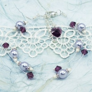 How To Make a Purple Passion Wedding Bracelet with Swarovski Crystals