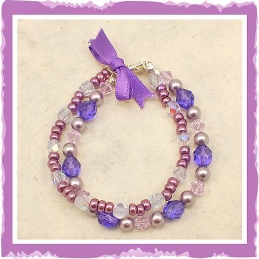 Purple Tanzanite Beaded Bracelet
