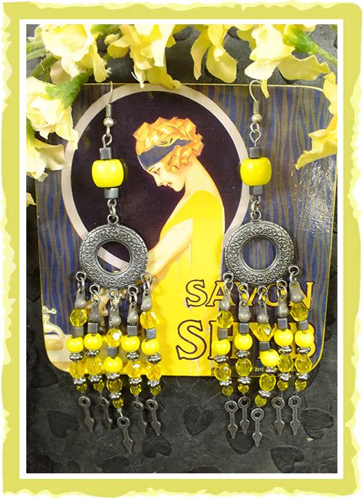 Lynn's yellow earring