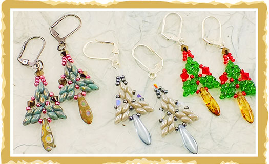 How To Use Super Duo Beads For Christmas Earrings The