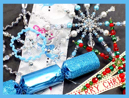 How To Make Beaded Christmas Snowflake Decorations The Bead Shop