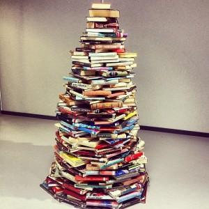 Handmade Book Christmas Tree