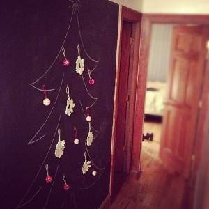 Handmade Chalkboard Christmas Tree