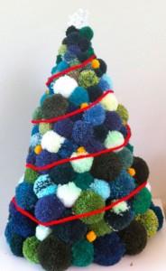 Made Do And Mend Pom Pom Christmas Tree