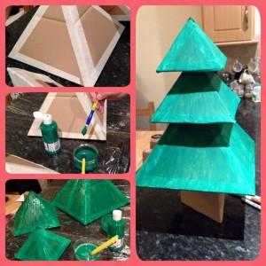 Handmade Cardboard Christmas Tree