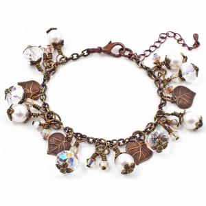 Vintaj-Leaf-Charm-Swarovski-Pearl-Bracelet-Kit-