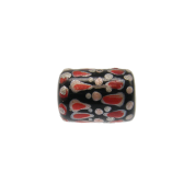 Hand Painted Glass Tube Beads