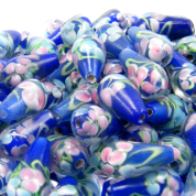 Hand Painted Glass Drop Beads