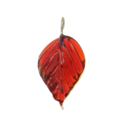 Glass Leaves and Heart Charms