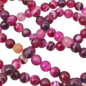 Semi Precious Faceted Round Beads