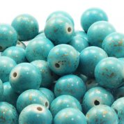 15mm Round Acrylic Marble Effect Beads