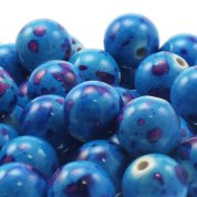 17mm Round Acrylic Marble Effect Beads
