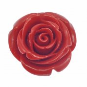 36mm Carved Coral Rose Beads