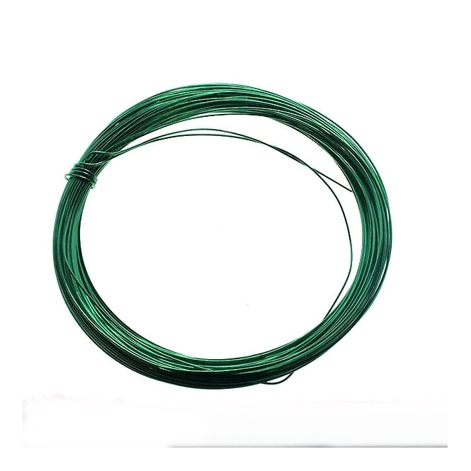 0.5mm (24ga) Craft Wire - Vivid Green - 15m