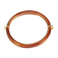 0.6mm (22 Gauge) Craft/Jewellery Wire - Non Tarnish Copper - 10 Metres
