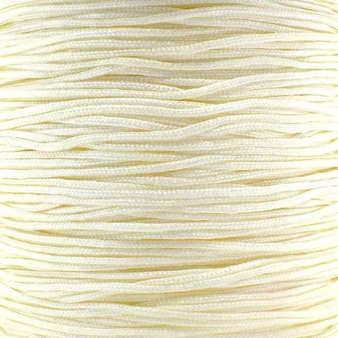 0.6mm Shamballa/Chinese Knotting Nylon Cord - Cream - 5m