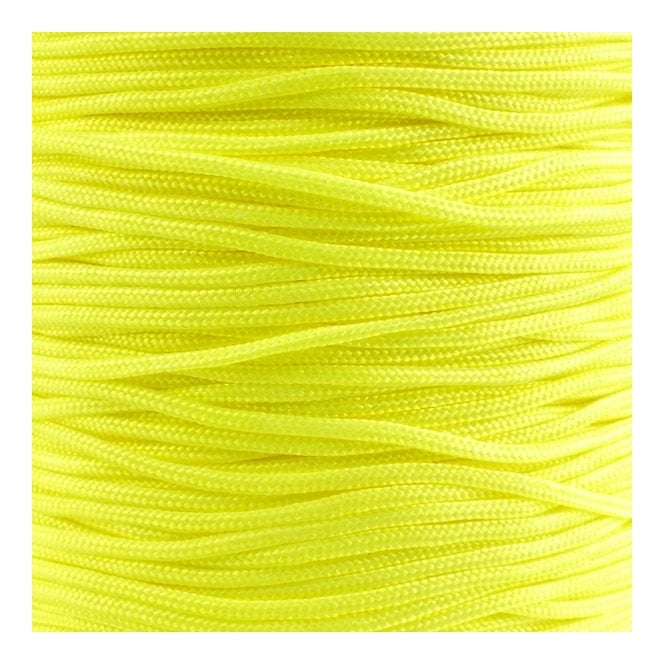 0.6mm Shamballa/Chinese Knotting Nylon Cord - Neon Yellow - 5m