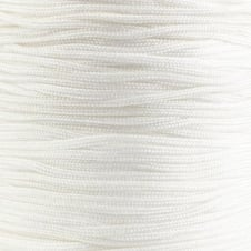 0.6mm Shamballa/Chinese Knotting Nylon Cord - White - 5m