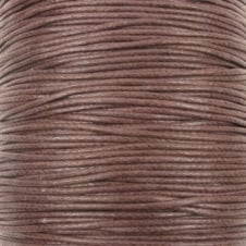0.6mm Waxed Cotton Cord - Brown - 50m