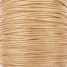 0.6mm Waxed Cotton Cord - Natural - 50m