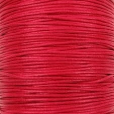 0.6mm Waxed Cotton Cord - Red - 10m