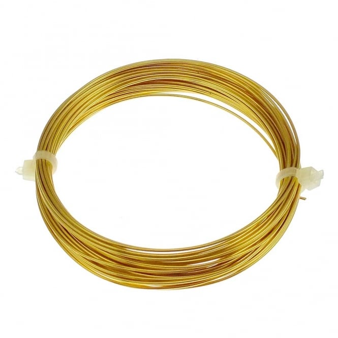 0.8mm (20 Gauge) Craft/Jewellery Wire - Non Tarnish Brass - 6 Metres