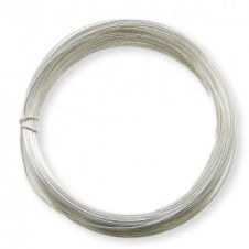 0.8mm (20 gauge) Craft/Jewellery Wire - Silver Plated - 6 metres