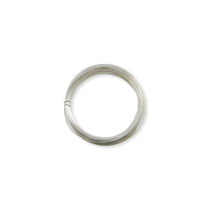 1.25mm (17 gauge) Craft/Jewellery Wire - Silver Plated - 3 metres