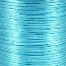 1.5mm Rattail Satin Cord - Aqua Blue - 5m