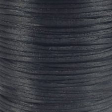 1.5mm Rattail Satin Cord - Black - 5m