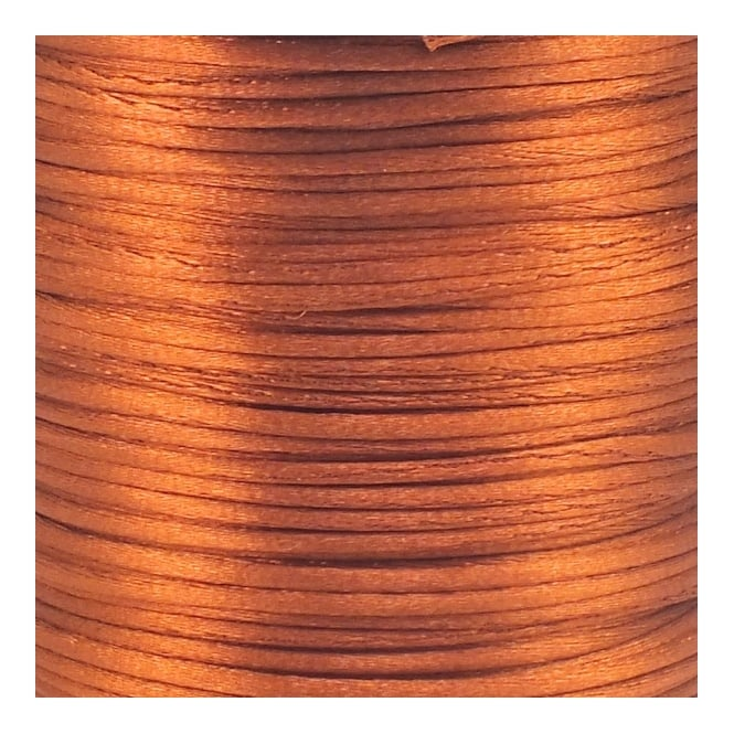1.5mm Rattail Satin Cord - Copper - 5m