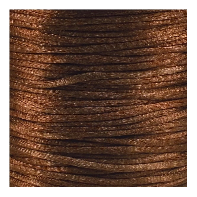 1.5mm Rattail Satin Cord - Dark Brown - 5m