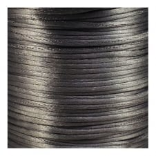 1.5mm Rattail Satin Cord - Dark Silver - 5m