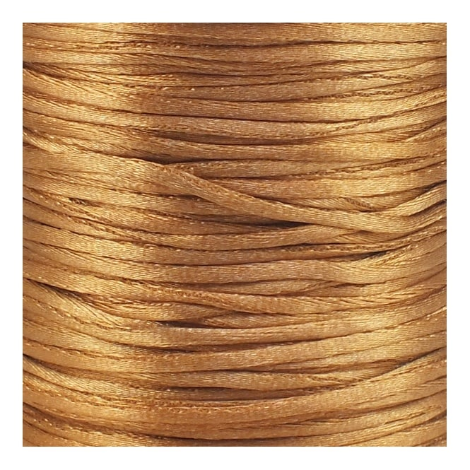 1.5mm Rattail Satin Cord - Gold Bronze - 5m