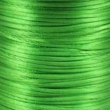 1.5mm Rattail Satin Cord - Grass Green - 5m
