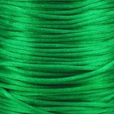1.5mm Rattail Satin Cord - Kelly Green - 5m