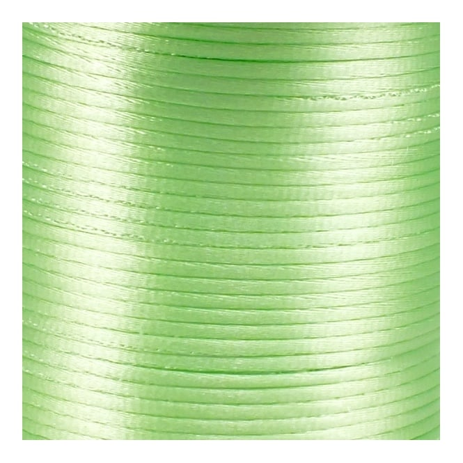 1.5mm Rattail Satin Cord - Light Green - 5m