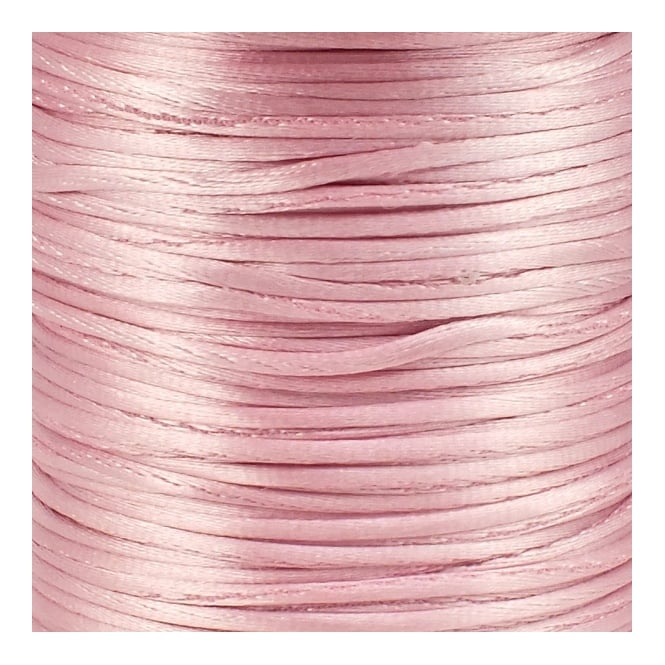 1.5mm Rattail Satin Cord - Light Pink - 5m