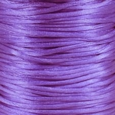 1.5mm Rattail Satin Cord - Purple - 5m