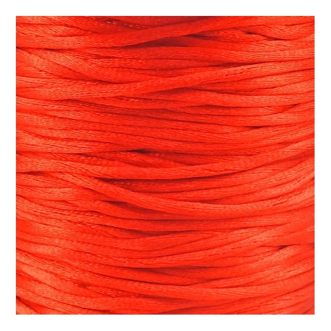 1.5mm Rattail Satin Cord - Red - 5m