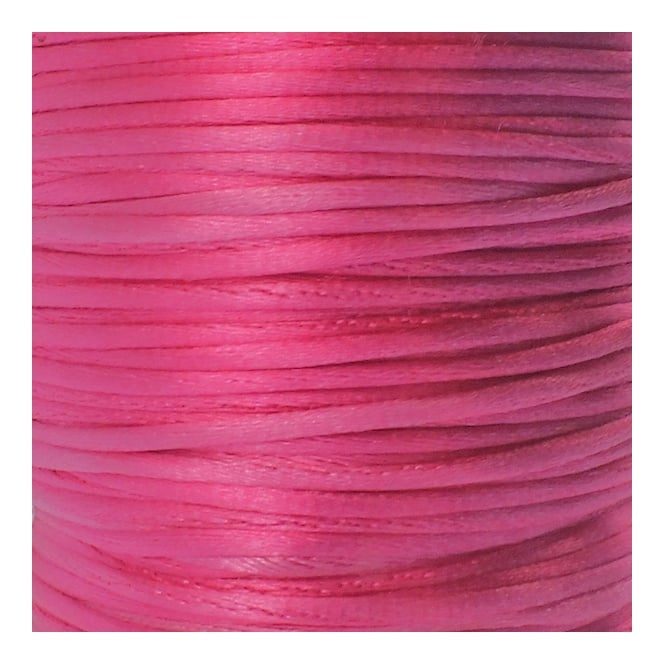1.5mm Rattail Satin Cord - Strawberry Pink - 5m