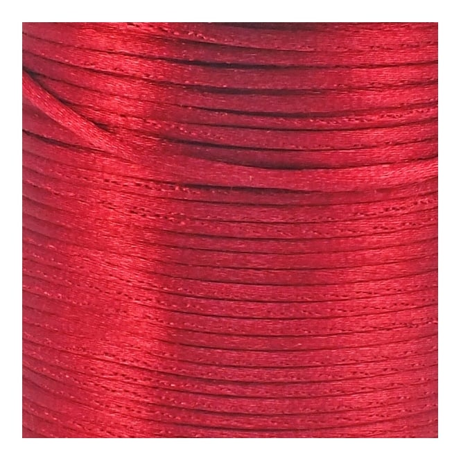 1.5mm Rattail Satin Cord - Wine - 5m
