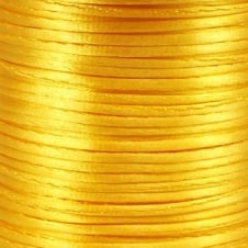 1.5mm Rattail Satin Cord - Yellow - 5m