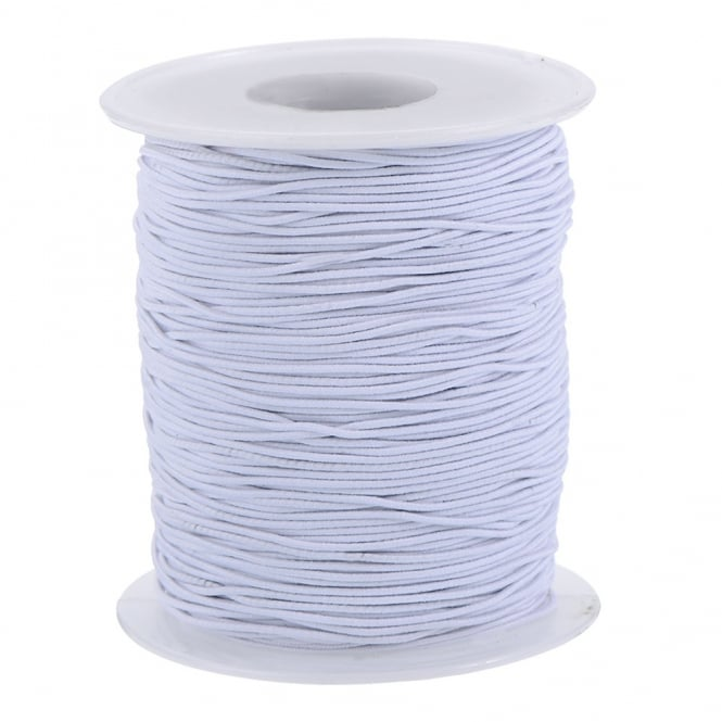 1.5mm Round Hat Elastic - White - 5 metres