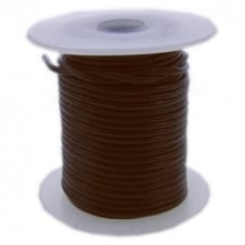 1.5mm Round Leather Cord - Brown - 5pk
