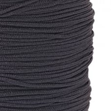 1.5mm Shamballa/Chinese Knotting Nylon Cord - Black - 5m