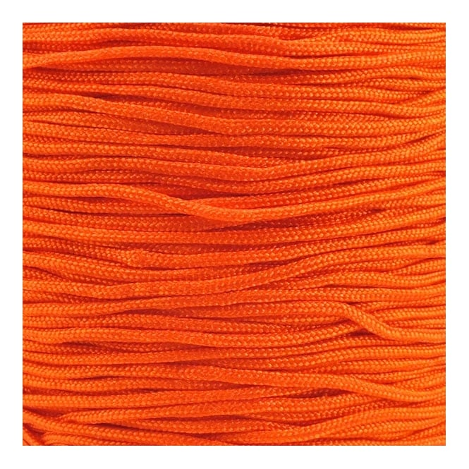 1.5mm Shamballa/Chinese Knotting Nylon Cord - Orange - 5m